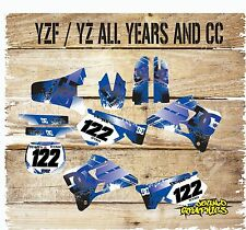 YAMAHA YZ 85 125 250 450 FULL GRAPHICS KIT-FULL STICKER KIT-DECALS-122