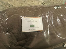 Pottery Barn Silk Channe Full/Queen Quilt Brownstone NEW Tencel