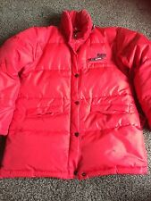 Vintage Puffa Jacket Original Ladies Size 12 Red Down Feathers