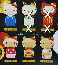 Sanrio Hello Kitty Kokeshi Netsuke Wooden Figure, 4 pcs - Takara  Tomy ARTS