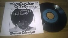 "7"" Pop Donna Hightower - This World Today Is A Mess (2 Song) MOTOWN / blue label"