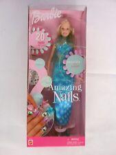 Mattel Barbie Doll Amazing Nails 2001 # 53379 NEW