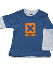 Babybugz Skate Layered Top Shirt Baumwolle Pullover NEU blau Reizend 3-6/12-18 M