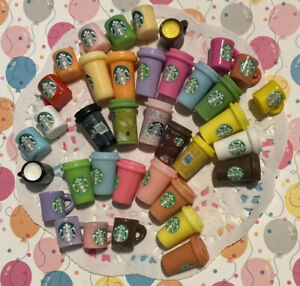 Assorted Resin Starbucks Cabochons Coffee+ Resin Tumbler Cups Cabochons 40 Pcs