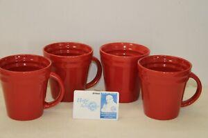 Set of 4 Rachael Ray Red Ridge Coffee Cups
