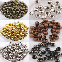 2/4MM Smooth Round Spacer Beads Craft Findings DIY Jewellery Various Colour Size