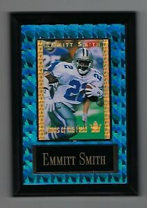 """Vintage 1994 6.5"""" x 4.5"""" Card Plaque Emmitt Smith Kings of the Field Cowboys #1"""