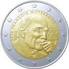 PIECE 2 EUROS COMMEMORATIVE FRANCE 2016 FRANCOIS MITTERRAND PRESIDENT REPUBLIQUE