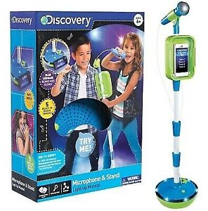 Discovery Kids Microphone and Stand NEW Light Up Musical MIB FREE SHIPPING