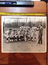 1929 Villanova Baseball Press Wire Manager Baseball Photo PA College