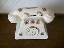 "Arthur Wood Ceramic Telephone Money Bank 1940's-1950's. Length 7"" W3.5"" H5"""