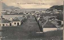 Sao Vicente Cape Verde panoramic birds eye view Rua da quartel antique pc Z33366