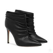 Occident Stilettos High Heel Pointed Toe Pull On Ladies Ankle Boots Size 34-46