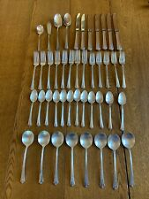 Holmes & Edwards Inlaid IS Silverplate Spring Garden Silverware 44 pieces