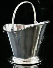 Novelty Silver Coal Scuttle Sugar Bowl, Birmingham 1902, Deakin & Francis