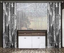 Cortina panel blanco neto de Cadena Set Ventana Puerta Mosquitero Borlas Flecos ciego