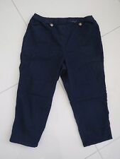 BN   Ladies Denim Relaxed Pull On Stretch Crop Jeans   Size: 12