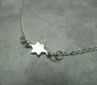 Simple Star of David Necklace - 925 Sterling Silver - Small Minimalist Jewish