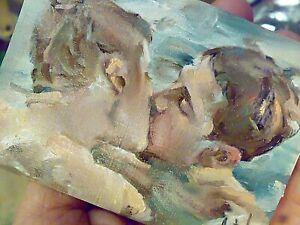 Original art,gay art interest,sexy body men in love, boys kiss embrace romantic