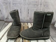 Bearpaws Faux fur Boots shoes gray womens 7 soft warm winter snow