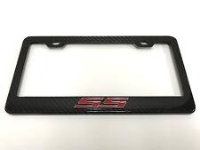 "3D ""SS"" LOGO Handmade REAL CARBON FIBER License Plate Frame Tag Cover 3K TWILL"