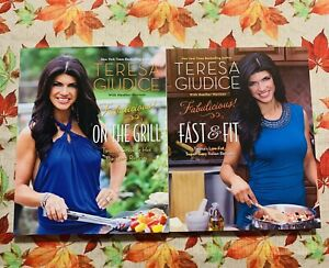 Fabulicious! On The Grill & Fast & Fit 2 Cookbooks By Teresa Giudice