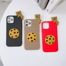 Cute Biscuit Bear Hot Creative Cartoon Lovely Soft Phone Case Cover For Samsung