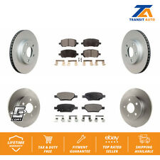 Front Rear Brake Coated Disc Rotors & Semi-Metallic Pad Kit 2007-2010 Pontiac G5