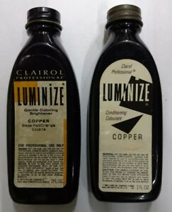 Vintage Clairol Luminize Copper 2 BOTTLES.