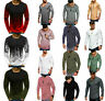 Men's Slim O Neck Pullover Long Sleeve Muscle Tee T-shirt Casual Tops Blouse