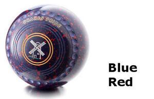 DRAKES PRIDE FLAT GREEN PROFESSIONAL BLUE & RED BOWLS##B3246C