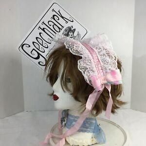 Pink Sweet Lolita Headband Hair Accessories Kawaii ribbon Bows Hand-made 6162