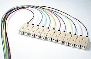 50/125/900um OM3 Laser Optimized 10G multimode SC/PC Color Coded Pigtail, 3 M...