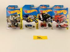 Lot of 4 Hotwheels Fast Cash,The Haulinator,Fast Gassin,Crate Racer. #310