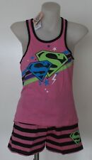 LICENSED SUPERGIRL PJ 2 PC SET PINK DC COMICS SLEEPWEAR AVAIL SIZE 7 8 10 12 14