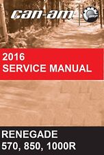 2016 Can-Am ATV Renegade 570 850 1000R service manual on CD CanAm