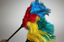 Two (2 ) soft ostrich feather dusters plastic handle 55cm first grade