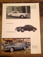 Rara Pubblicità LANCIA FLAMINIA Coupe'/Sport/Gran Turismo 1959