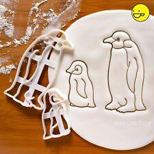 2 Emperor Penguin cookie cutters |baby animal bird Antarctica Christmas winter