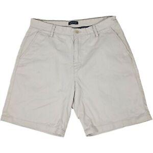 Nautica Ivory Chino Bermuda Shorts - Mens W34