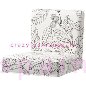 IKEA HENRIKSDAL Cover for bar stool with backrest, Vislanda black/white