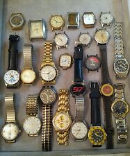24 Vintage And Modern Men's Watches For Parts Or Restoration