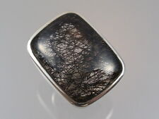 Ring mit Berkristall und Rutilnadeln Silberring 925 Gr. 55 RIESIG  2,7 x 2 cm