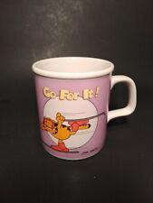 "Vintage 1978 Garfield Ceramic ""Go For It"" Mug"