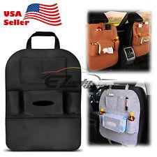 Black Car Seat Back Storage Bag Organizer Multi-Pocket Travel iPad iPhone Holder