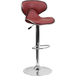 Flash Furniture Burgundy Contemporary Barstool, Burgundy - DS-815-BURG-GG