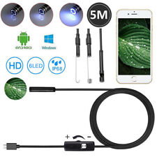 USB Endoskop Wasserdicht Endoscope 5M 6LED Kamera Inspektion für Android PC