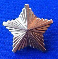 JNA Yugoslav People's Army metal gold star rank insignia, badge ZAGREB IKOM !
