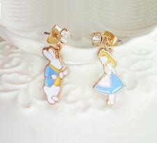 E1010 Betsey Johnson  Fairy Tale Rabbit Peter Alice In Wonderland Earrings US