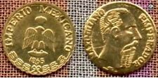 100 BRILLIANT UNCIRCULATED 1865 MEXICAN MAXIMILIAN PESOS mini gold coins FAVORS.